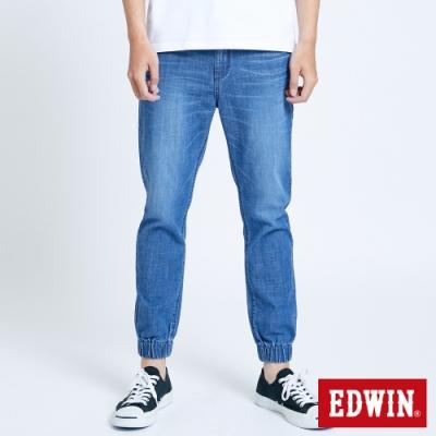 EDWIN 503 輕柔舒適 五袋式束口牛仔褲-中性-石洗藍