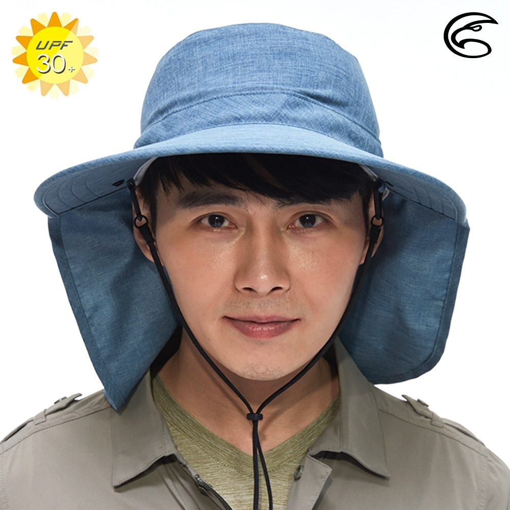ADISI 抗UV透氣快乾遮陽帽AH20004 / 灰藍