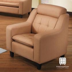 漢妮Hampton米蘭達系列透氣皮單人沙發