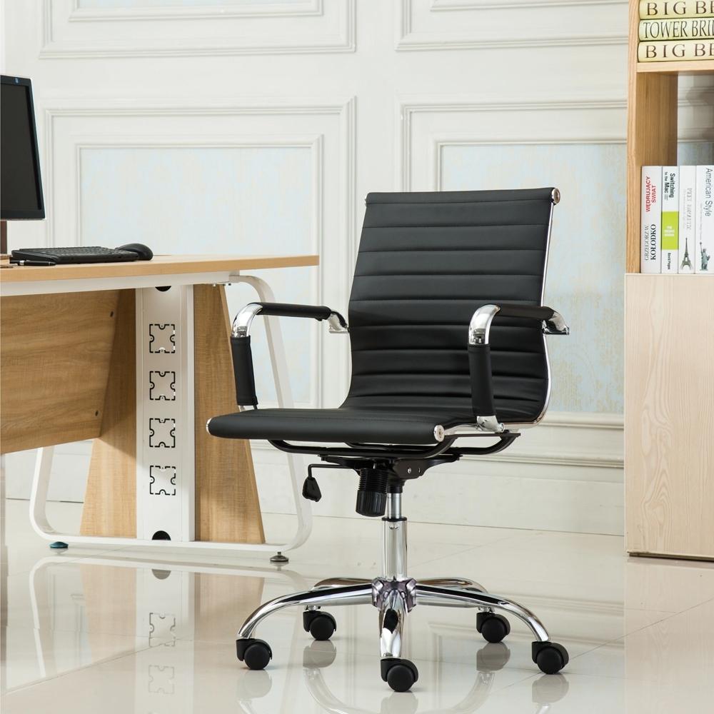 E-home Ardin雅登可調式扶手電腦椅 黑色
