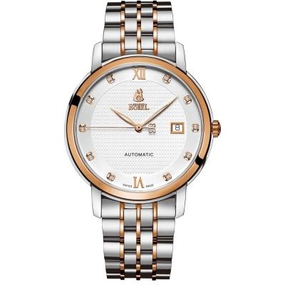 ERNEST BOREL 瑞士依波路錶 皇室系列 6155玫瑰金-白色40.5mm