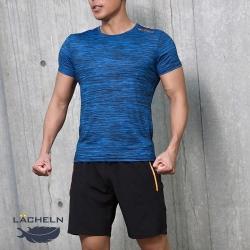 【LACHELN】男款-抗UV快乾吸排彈力運動套裝-寶藍色(L92MX01)