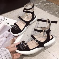 KEITH-WILL時尚鞋館 名媛好感輕著厚底涼鞋 黑