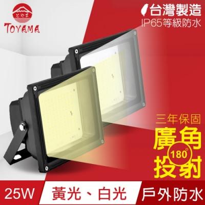 TOYAMA特亞馬 超勁亮戶外防水LED投射燈25W x2件