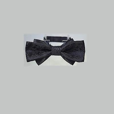 拉福   變形蟲雙翼領結新郎結婚領結糾糾 (黑色)