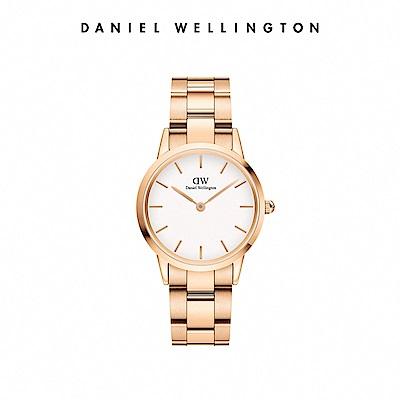 【Daniel Wellington】官方直營 Iconic Link 36mm精鋼錶-特調玫瑰金 DW手錶