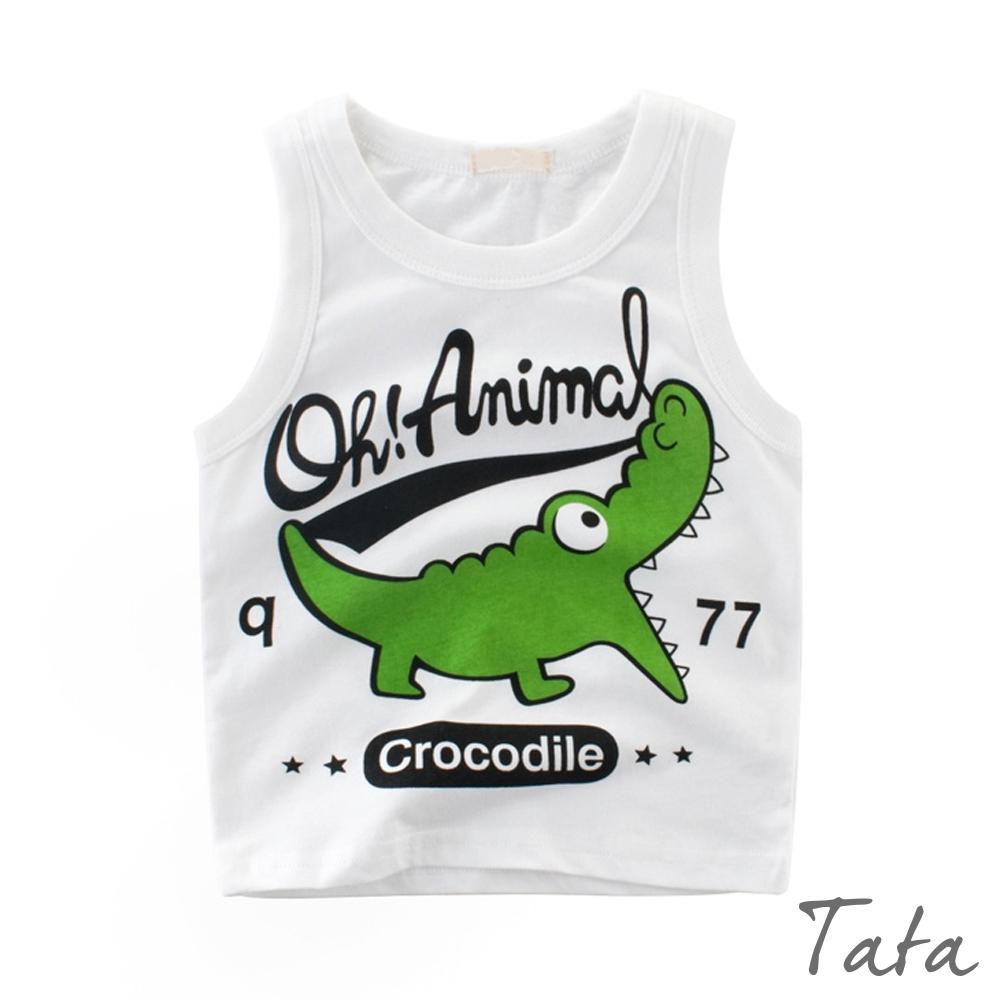 兒童 可愛鱷魚印花背心 TATA KIDS