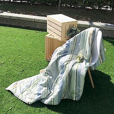 戀家小舖 / 雙人涼被  植木綠涼被  100%精梳棉  台灣製