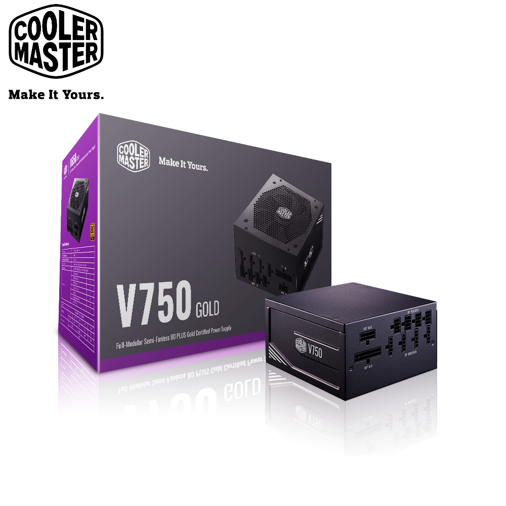 Cooler Master V750 Gold 80Plus金牌電源供應器