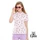 【Lynx Golf】女款滿版仙人掌印花網眼布短袖POLO衫-白色 product thumbnail 2