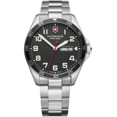 VICTORINOX瑞士維氏Fieldforce時尚手錶(VISA-241849)-黑