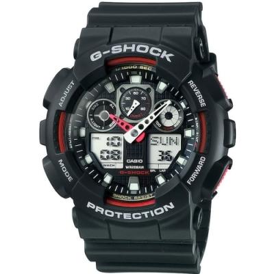 CASIO卡西歐 粗獷個性風格G-SHOCK系列(GA-100-1A4)