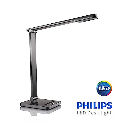 【飛利浦 PHILIPS LIGHTING】晶皓LED檯燈-黑 6W (71666)