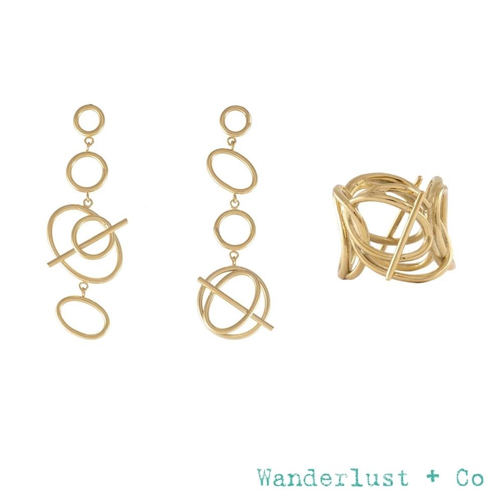[時時樂限定]Wanderlust+Co 官方精緻禮盒3折 星軌耳環+層次星軌戒指