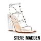 STEVE MADDEN-FELIZIA 鉚釘粗跟羅馬高跟鞋-銀色 product thumbnail 1