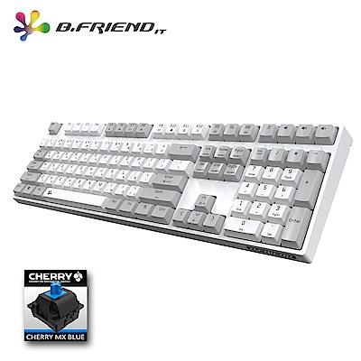 B.Friend MK7R Cheery青軸PBT白光遊戲鍵盤(白色)