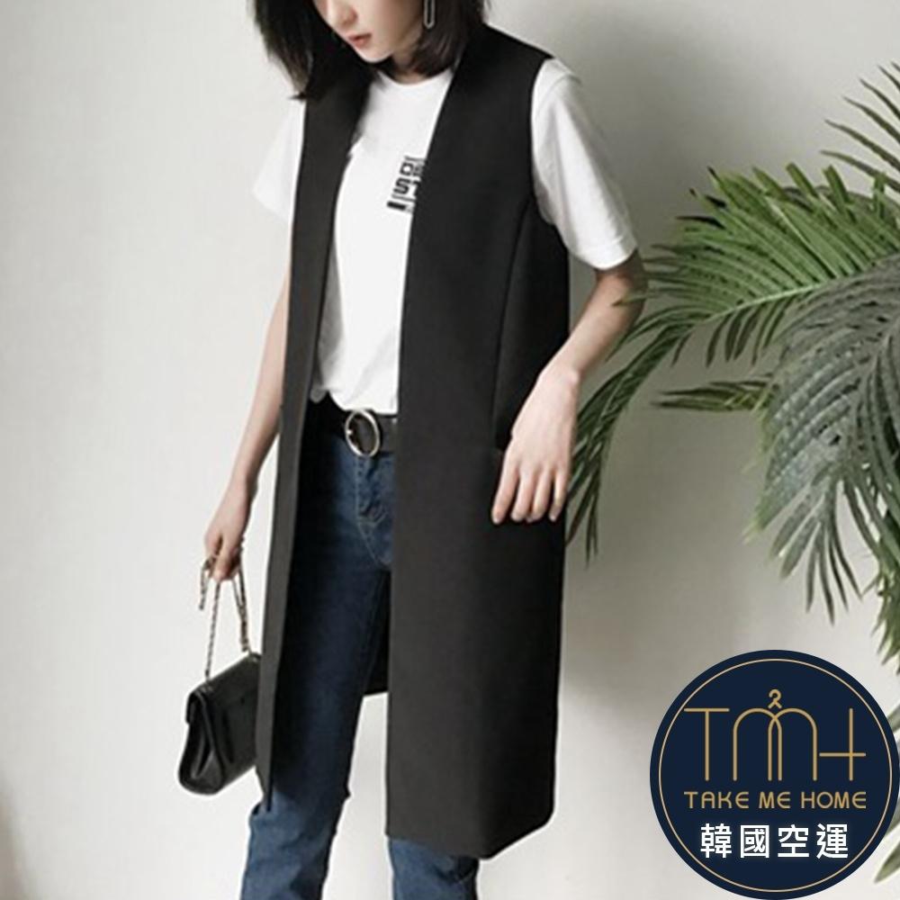 秋季新款 幹練馬甲無袖風衣-2色-TMH