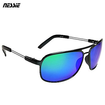 【Nessie尼斯眼鏡】偏光太陽眼鏡-飛官灰藍