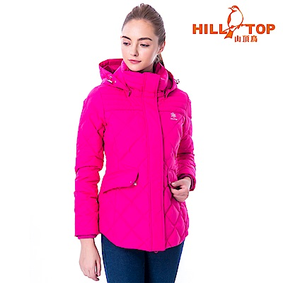 【hilltop山頂鳥】女款WINDSTOPPER抗風羽絨短大衣F22FY1粉