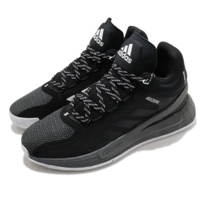 adidas 籃球鞋 D Rose 11 運動 飆風玫瑰 男鞋 愛迪達 Bounce中底 緩震舒適 黑 白 FU7404