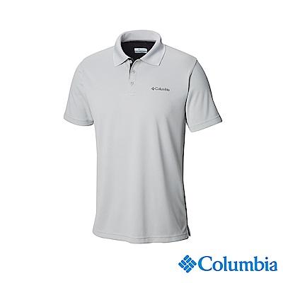 Columbia哥倫比亞 男款-UPF30快排Polo衫-灰色UAE01260GY