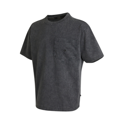 CONVERSE FASHION POCKET TEE 男 短袖上衣 口袋上衣 水染質感 黑色 10021491-A02