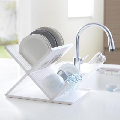 【YAMAZAKI】AQUA全能X型瀝水架-白★置物架/多功能收納/廚房用品/居家收納