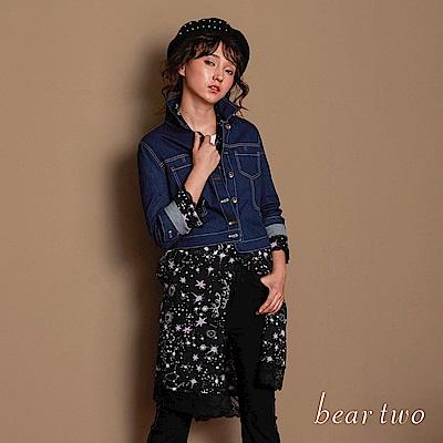 beartwo 星空閃閃雪紡造型洋裝(2色)