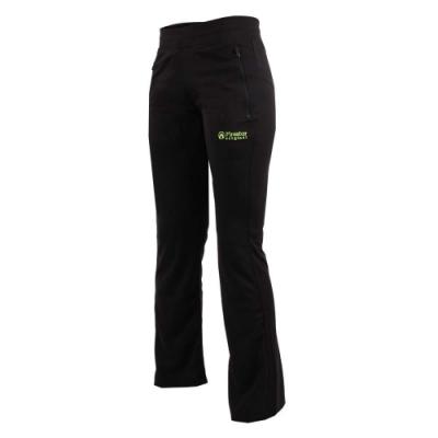 FIRESTAR 女針織長褲-慢跑 路跑 訓練 競賽 運動長褲 黑綠