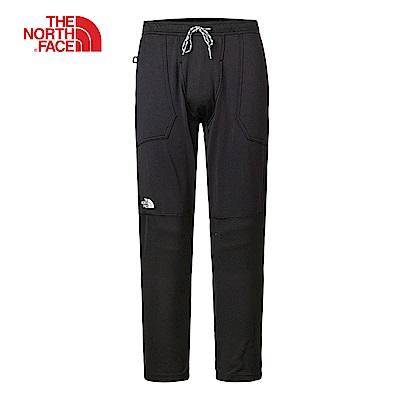 The North Face北面男款黑色保暖透氣長褲|3LURJK3