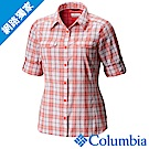 Columbia 哥倫比亞 女款-防曬40快排長袖襯衫-紅格紋UAK14980RD