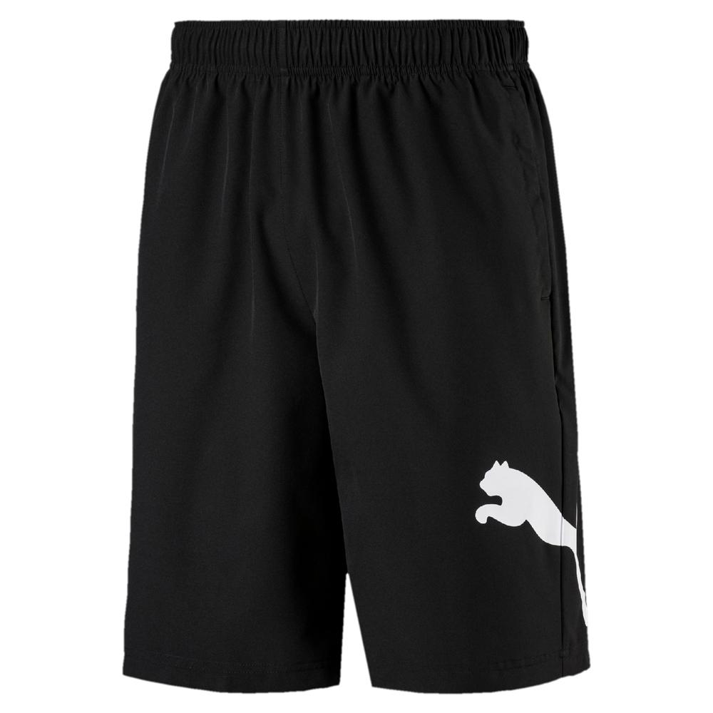 PUMA-男性基本系列Tec Sports 10吋短風褲-黑色-亞規