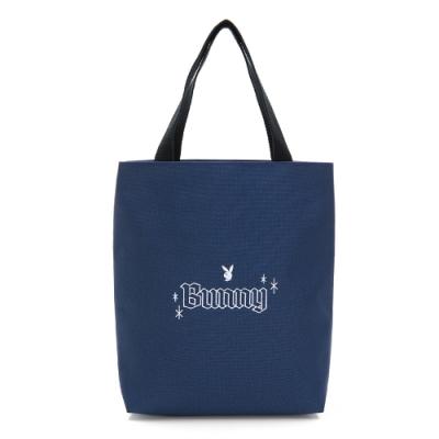PLAYBOY-手提袋 Bunny兔系列-藍色