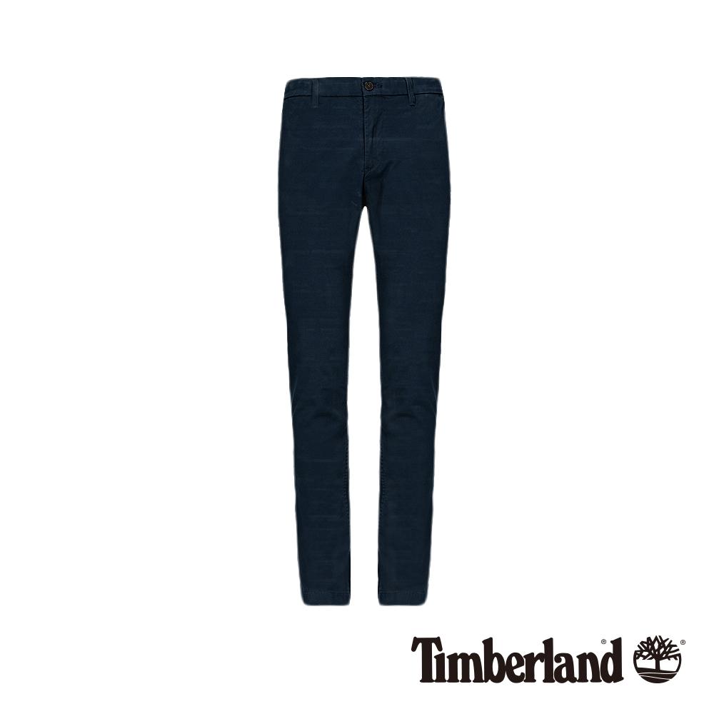 Timberland 男款深寶石藍彈性斜紋布修身卡其褲|A1WAZ
