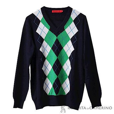 ROBERTA諾貝達  陽光型男 純喀什米爾羊毛毛衣  綠色