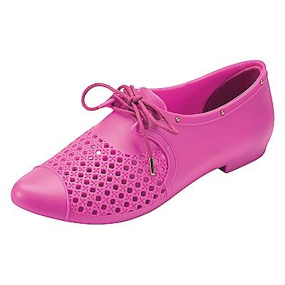 MELISSA 帥氣中性型鞋-桃紅