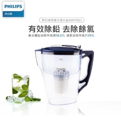 PHILIPS 飛利浦 超濾帶計時器3.5L濾水壺-AWP2921