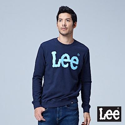 Lee 大LOGO圓領厚TEE/RG-深藍色