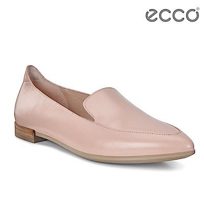 ECCO SHAPE 氣質正裝平底樂福鞋 女-裸粉色
