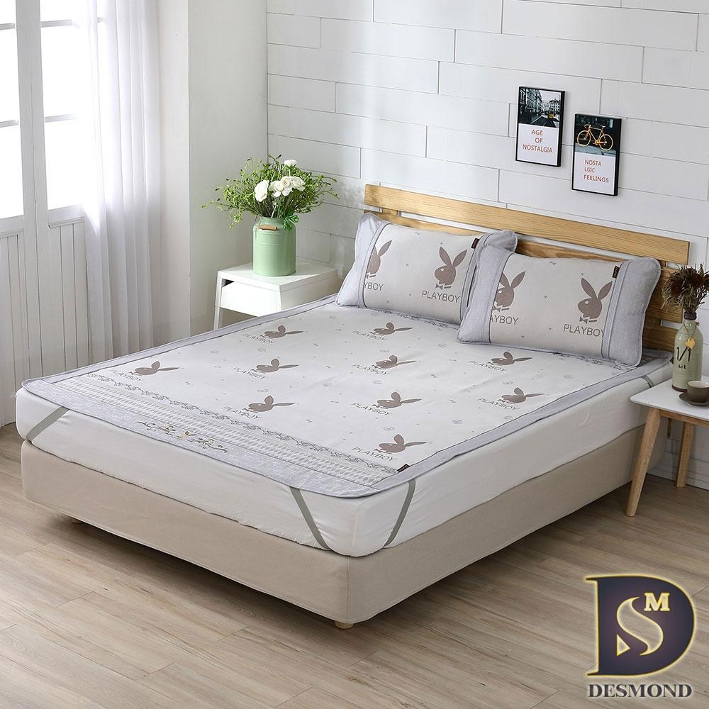 岱思夢 3D透氣冰絲涼蓆 雙人5尺 贈同款枕套2入 立體透氣網 精緻包邊設計 PLAY BOY
