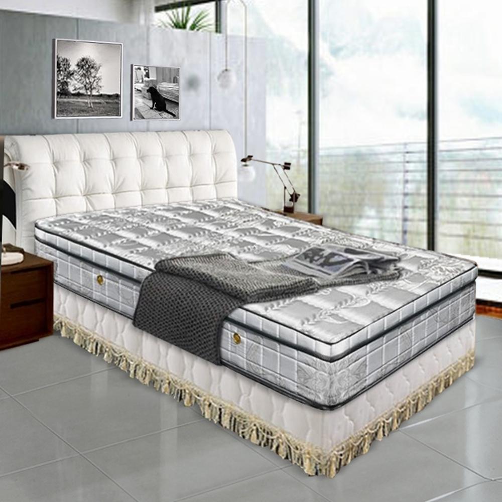 布萊迪 Brady  黑鑽竹炭纖維抗菌除臭三線獨立筒床墊-雙人加大6尺