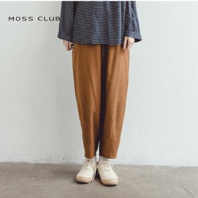 【MOSS CLUB】日系刺繡幾何休閒-長褲(咖)
