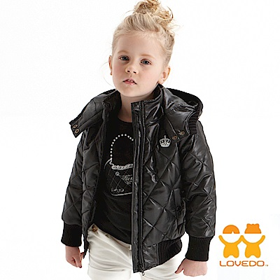 【LOVEDO-艾唯多童裝】絕對龐克 保暖舖棉外套(黑)