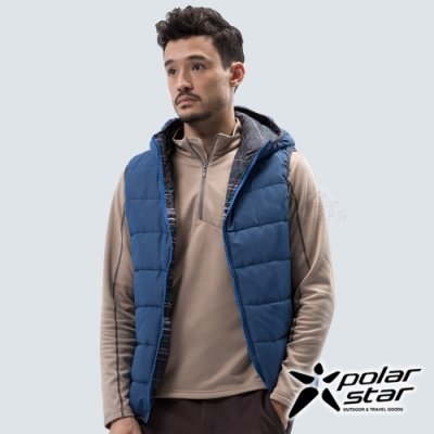 PolarStar 中性 鋪棉雙面保暖背心『深藍』P18213