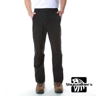 Skywalkers 男款彈力排汗休閒褲(黑)