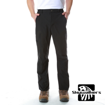 [時時樂限定]Skywalkers 男款彈力排汗休閒褲(黑)