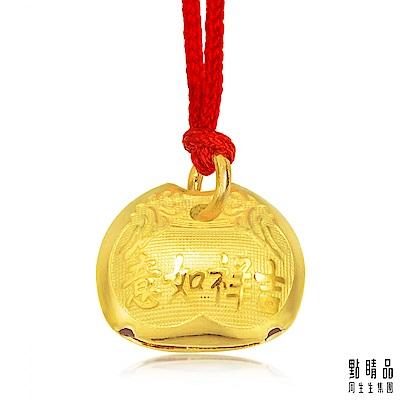 點睛品 吉祥如意木魚鈴鐺彌月黃金吊墜_計價黃金