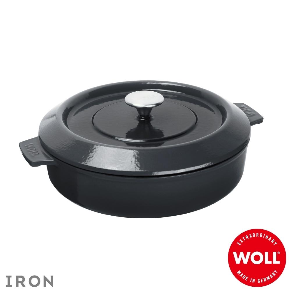 WOLL德國歐爾 IRON淺型鑄鐵鍋28cm-灰
