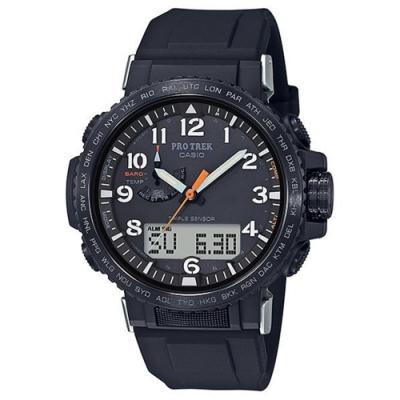 CASIO 卡西歐 PRO TREK太陽能電波手錶PRW-50Y-1A-黑/50.5mm