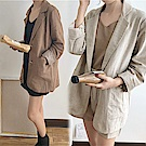 【韓國K.W.】閏密裝清香悠然時尚外套-2色